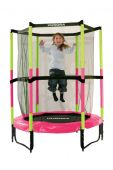 Батут Hudora Safety trampoline Jump in 140 cm Ø розовый